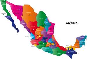 Mexican State Map